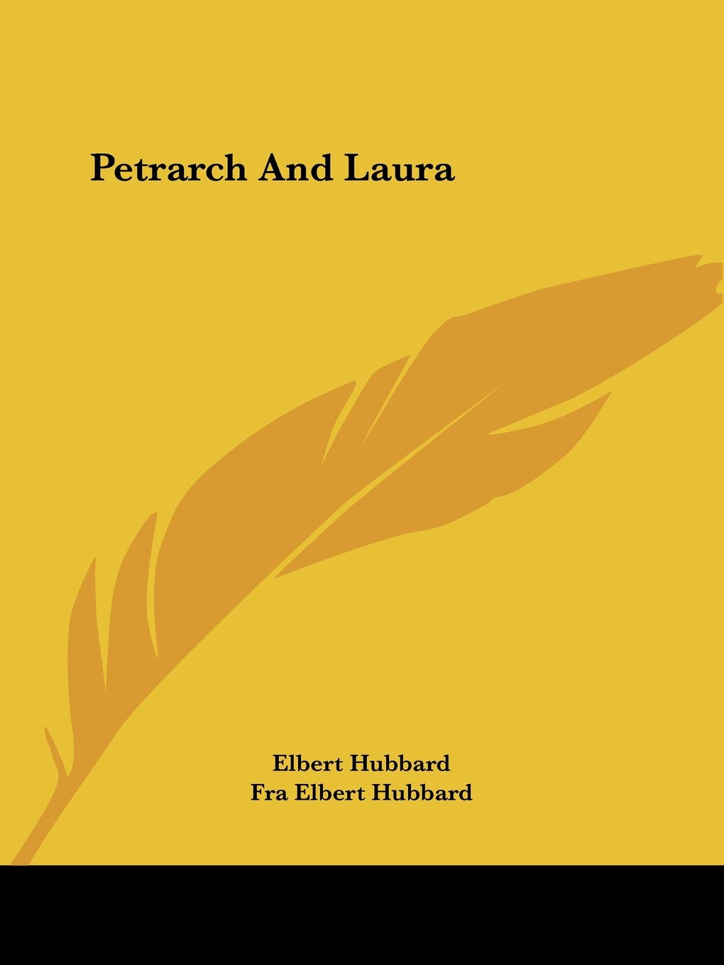 Petrarch And Laura by Kessinger Publishing, LLC
