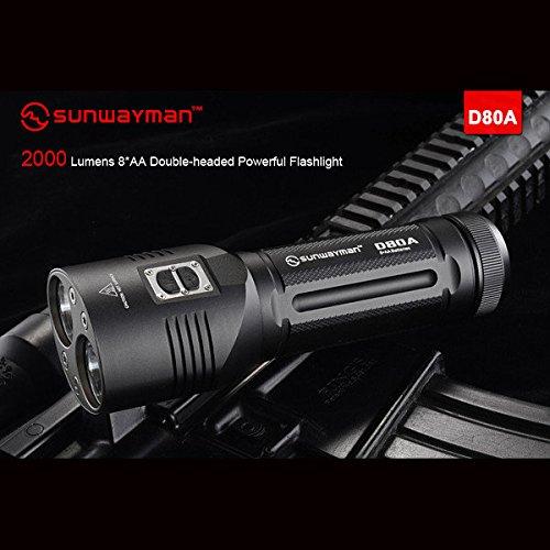 Bazaar Sunwayman D80A Cree XM-L2 2000LM Doppelpfeil LED Taschenlampe 8 * AA