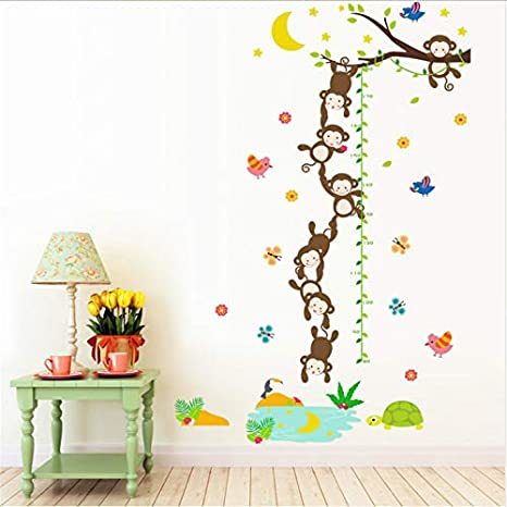 Monkey Fishes The Moon Fable Kids Room Decorativo Altura ...
