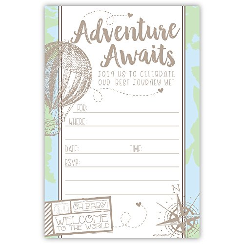 Which is the best adventure baby shower invites?