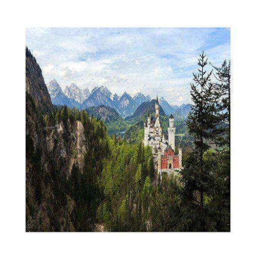 Martin Castle Landscape Color Lead Painting.png Poster For Home Or Office(24 X 24) ()