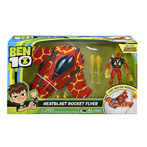 (BEN10 Heatblast Rocket Flyer Vehicle w/Figure)