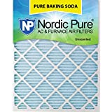 "Nordic Pure 16x30x1 Pure Baking Soda Odor Deodorizing AC Furnace Air Filters, 16"" x 30"" x 1"", 3"