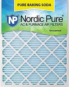 "Nordic Pure 24x30x1 Pure Baking Soda Odor Deodorizing AC Furnace Air Filters 24"" x 30"" x 1"" 3 Piece"