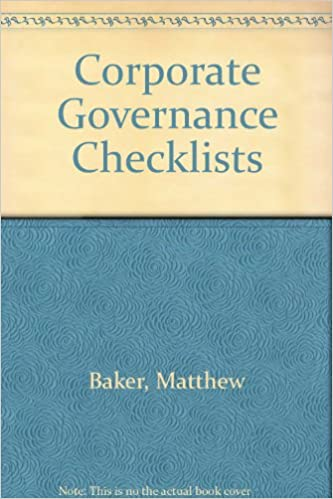 Corporate Governance Checklists
