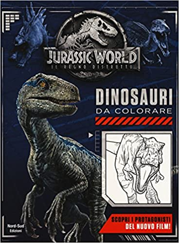 Amazonit Jurassic World Dinosauri Da Colorare Ediz A Colori