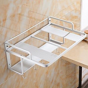Zws mikrowellen regale wand küche lieferungen mehrzweck raum aluminium doppel