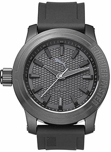 Men's Puma Forever Gunmetal Silicone Design Watch PU103991002