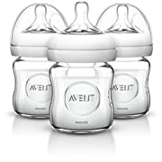 Amazon #LightningDeal 70% claimed: Up to 40% off Philips Avent Natural Glass Baby Bottle, 4 Ounce (Pack of 3)