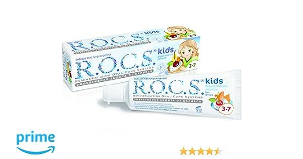 Dentífrico R.O.C.S. Kids Fruity Cone con sabor a helado / ROCS Sin flúor: Amazon.es: Salud y cuidado personal