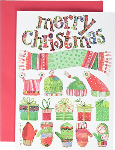 Price comparison product image It Takes Two CU705 Greeting Cards Merry Christmas Hats and Mittens Art Craft Product (10 Box)
