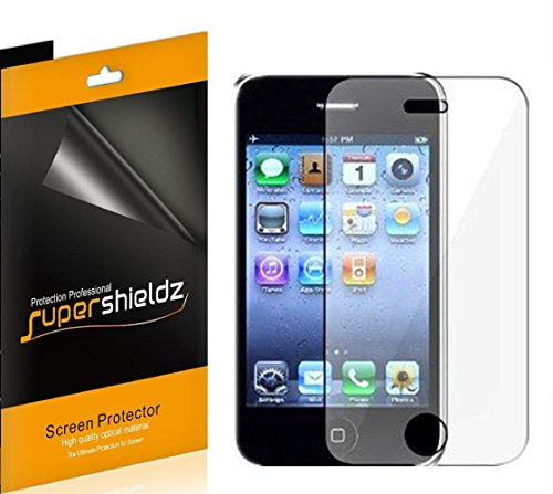 [6-Pack] Supershieldz- High Definition Clear Screen Protector Shield for Apple iPhone 3G / 3GS + Lifetime Replacements Warranty [6 Pack] - Retail Packaging (Screen Clear Iphone 3g)