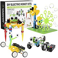Are you trying to find a fun, unique and inspiring gift for kids age 8 years and up?Let us help you! 2Pepers DIY Electric motor robotics for kids is exactly what you're looking for. Why Should it be us? THE NEXT GENERATION OF SCIENCE TOYS- Th...