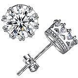 ANEWISH Jewelry Diamond Womens Zirconia 925 Sterling Silver Bride Stud Earrings for Lady Girl