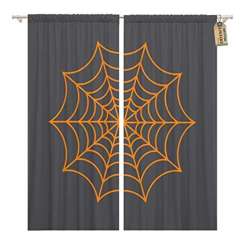 Golee Window Curtain Halloween Spider Network Cobweb Arachnid