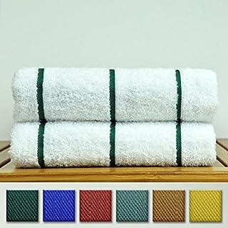 Premium Quality 100% Turkish Cotton Vertical Stripe 2-Pack Pool Beach Towels, Eco-Friendly (Hunter Green, 35x65 Inch) (B00JX3WG7U) | Amazon price tracker / tracking, Amazon price history charts, Amazon price watches, Amazon price drop alerts