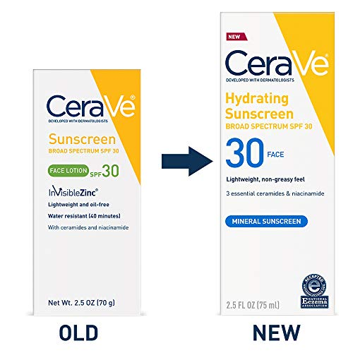 CeraVe Sunscreen Face SPF 30, 2.5 oz, Old Formula (Discontinued) (Best Daytime Eye Cream 2019)