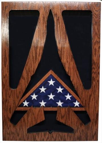 Air Force Military Shadow Box by Ridgecrest - American Grown Hardwood - Customize Now Aircraft: (Air Force Aircraft Photos)