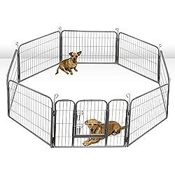 "40"" Pet Dog Playpen 8 Panel Fench Yard Metal Heavy Duty"
