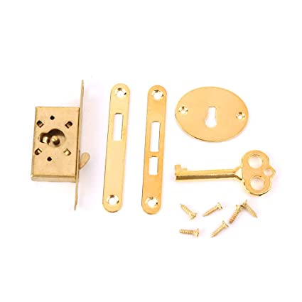 Antique Drawer Lock With Key Small Box Cabinet Door Locks Furniture Fittings