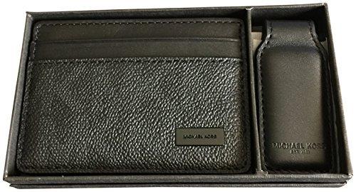 Michael Kors Men's Logo Card Case Wallet Money Clip Gift Set Black by Michael Kors (Image #1)
