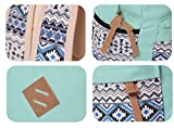 Veenajo Casual Lightweight Cute Dot Canvas Laptop Bag Shoulder Bag School Backpack for Teen(Light Green)
