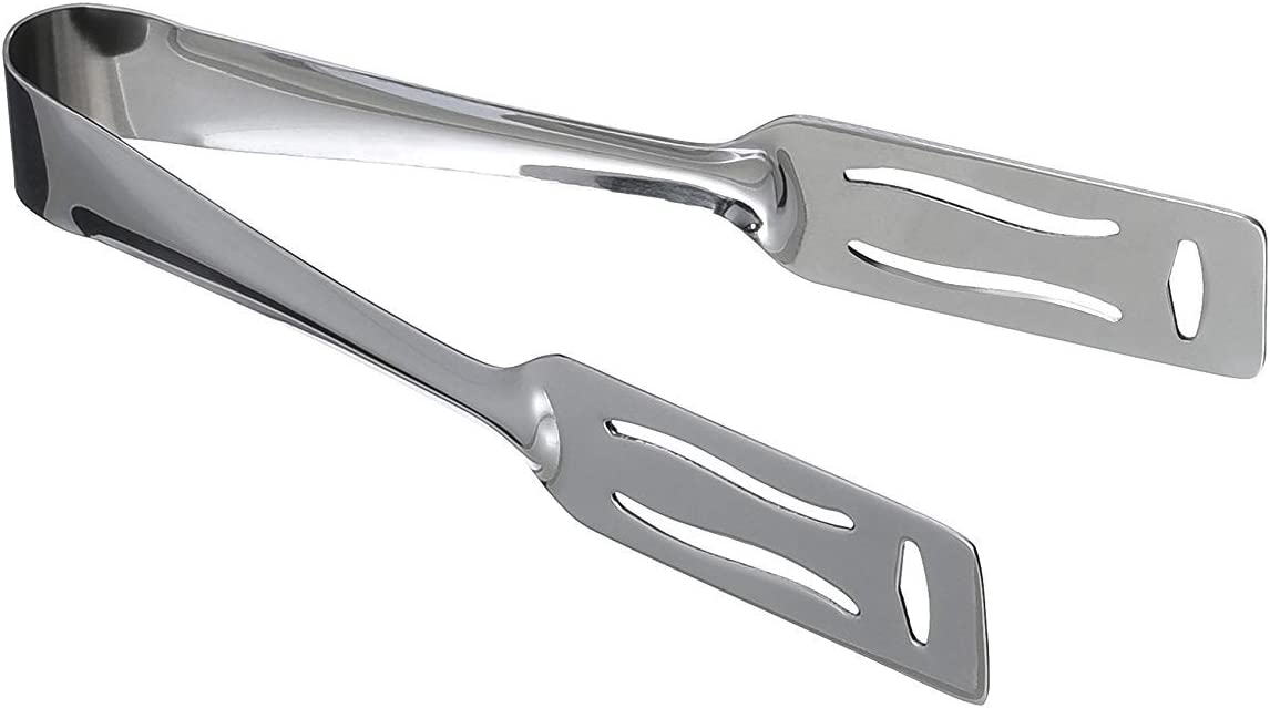 Kitchen Kemistry Edition 2019 Stainless Steel 19cm//7 1//2 inch Long Slotted Pastry Serving Tong