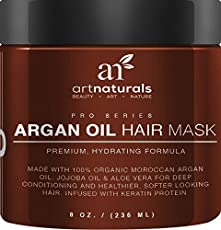 That shiny, healthy hair you remember from not-so-long-ago can be yours again. Art natural's argon oil hair mask restores bounce and shine, hydrates, protects color and helps reverse the effects of damaging UV rays with a deep-penetrating fusion of a...
