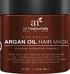 That shiny, healthy hair you remember from not-so-long-ago can be yours again. Art Natural's Argan Oil Hair Mask restores bounce and shine, hydrates, protects color and helps reverse the effects of damaging UV rays with a deep-penetrating fusion of a...