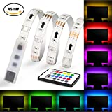 LED Strips Light, Maylit USB Neon Accent LED Lights Strips 2M/6.56ft for 40-60 TV Lights, RGB LED Bias Lighting with Remote. LED TV Backlight (40