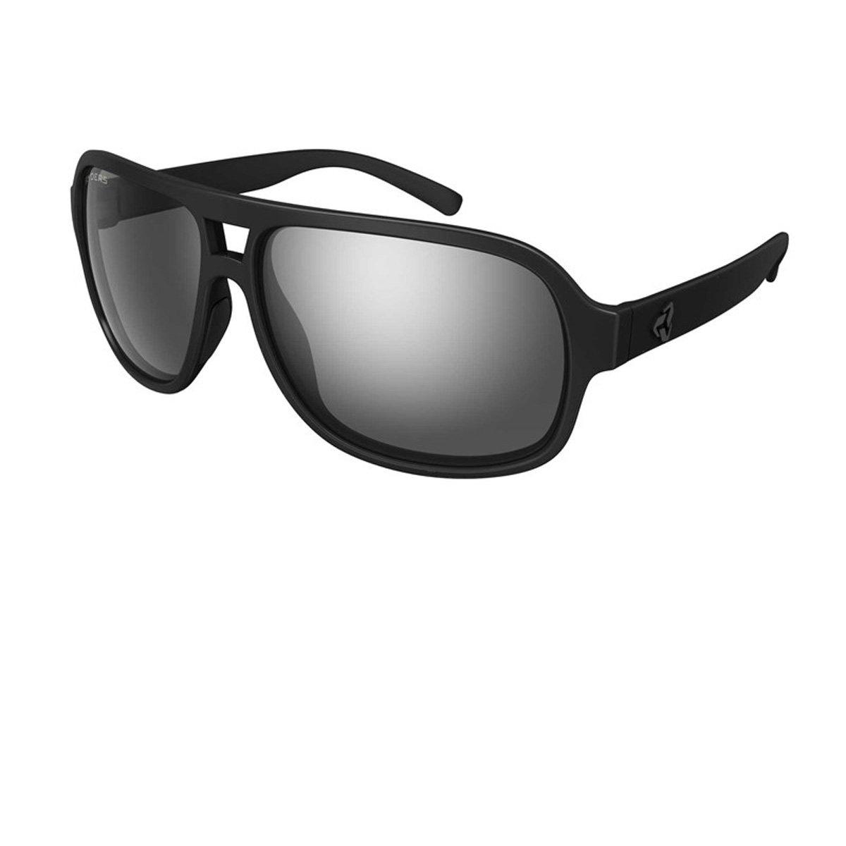 Ryders Eyewear Pint曇り止めサングラス  BLACK MATTE / GREY LENS SILVER FM ANTI-FOG B06WXX6T3J
