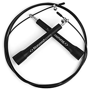 Springseil - Speed Rope - Ca. 3 m & leicht verstellbar - Stahlkugellager -...