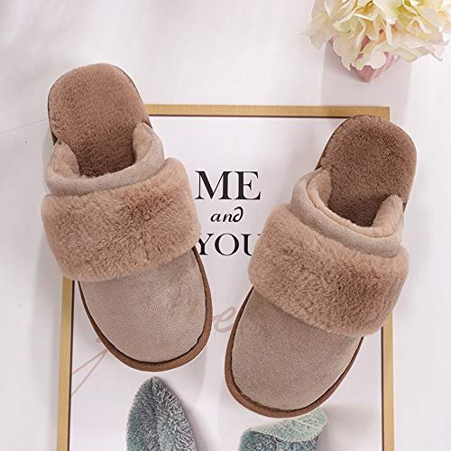 Chaussures Coton Et Avec Pantoufles D'hiver Femmes Chaud De Des Couleur Zlulu Les Épais Bonbon D'intérieur Pour Hommes Chaussons Maison TYHxWA7