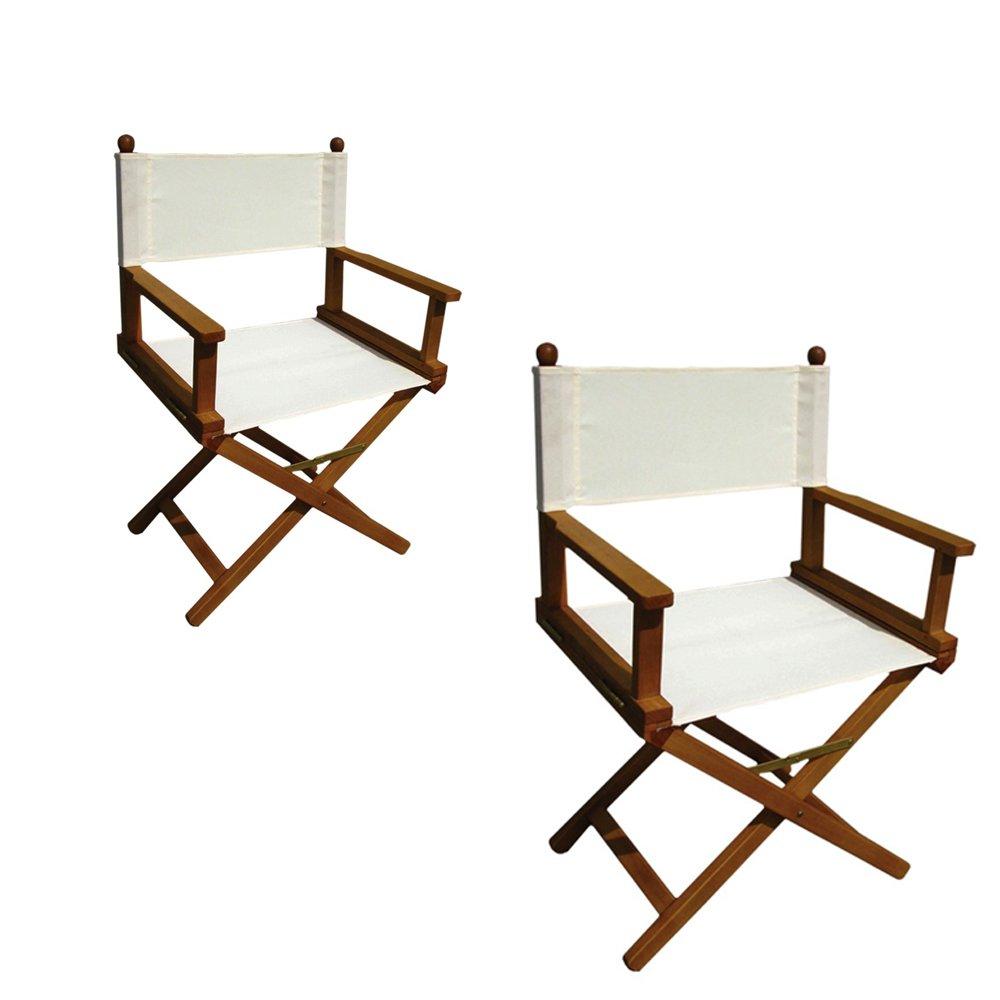 Poltrona sedia regista legno di acacia ecrù pieghevole arredo esterno AC805027 Cosma