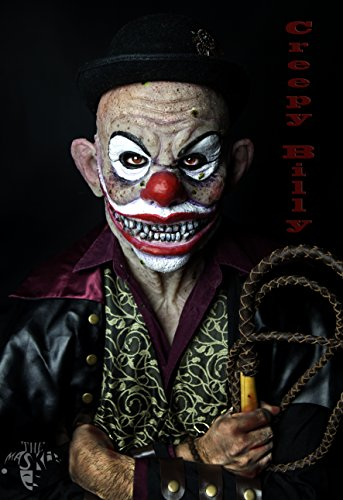 Realistic Hand Made Silicone Clown Mask
