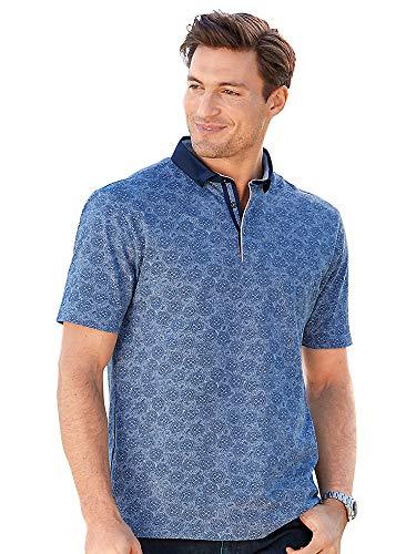 (Paul Fredrick Men's Cotton Medallion Short Sleeve Polo Blue XL )