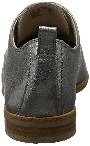 Clarks Alania Posey, Zapatos de Cordones Derby para Mujer Gris (Silver Metallic)