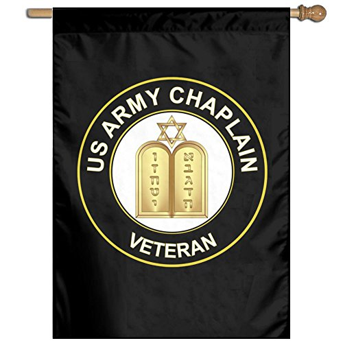 Chaplain Flag - Toxic Smo US Army Veteran Chaplain Vertical Garden Flag 27 X 37 Inche Black