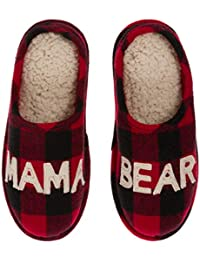 Women's Mama Bear Plaid Clog Slipper