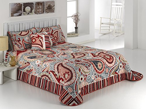 European - Made in Spain warm blanket Velvet 220x240 - 50x75 Rojo Color 1 PLY by MORA Blankets