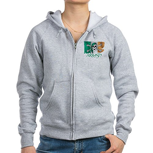 CafePress - ARR-Ish Pirate - Womens Zip Hoodie, Classic Hooded Sweatshirt with Metal Zipper Light Steel