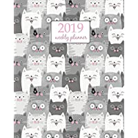 2019 Weekly Planner: Calendar Schedule Organizer Appointment Journal Notebook and Action day, cute cats art design