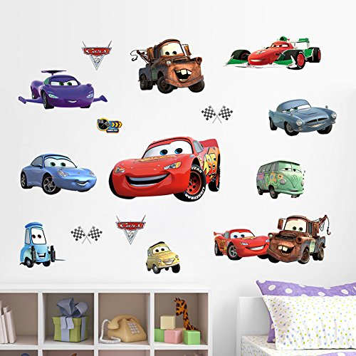 EMIRACLEZE Christmas Gift Cars Removable Mural Wall Stickers Wall Decal for Children Bedroom Home (Cars Removable Wall)