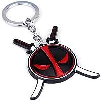 Deadpool Face Logo Metal Keychain, Deadpool Playtime - Deadpool with Sword, Multicolor, Marvel Comics Deadpool,Deadpool…