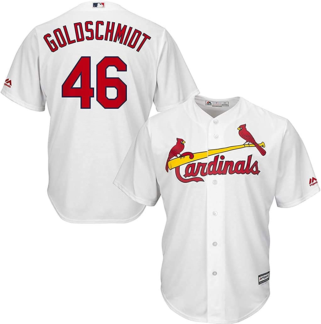 Louis Cardinals Youth 8-20 White Home Premier Stitched Cool Base Jersey Outerstuff Paul Goldschmidt St