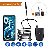 DBPOWER 2MP HD WiFi Endoscope Semi-Rigid Cable 6 Adjustable Led IP67 Waterproof Borescope Inspection Snake Camera for Android, iPhone, iPad, Samsung&Tablet (3.5M/11.5ft)