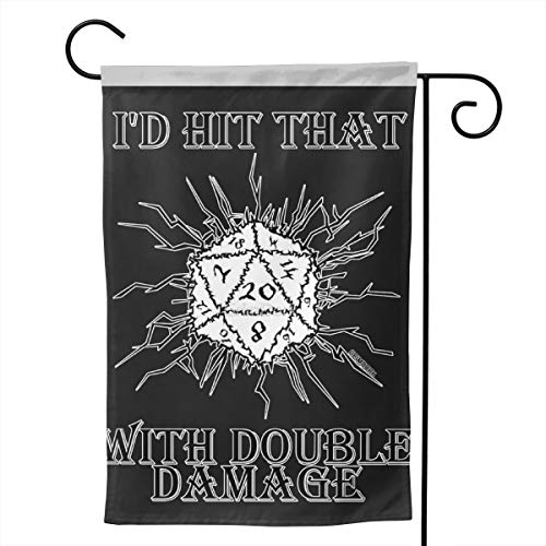 Pinata I'd Hit That D20 Funny Decorative Outdoor Double Sided Garden Flag, House Yard Flag,Garden Yard Decorations,Seasonal Welcome Outdoor Flags ()