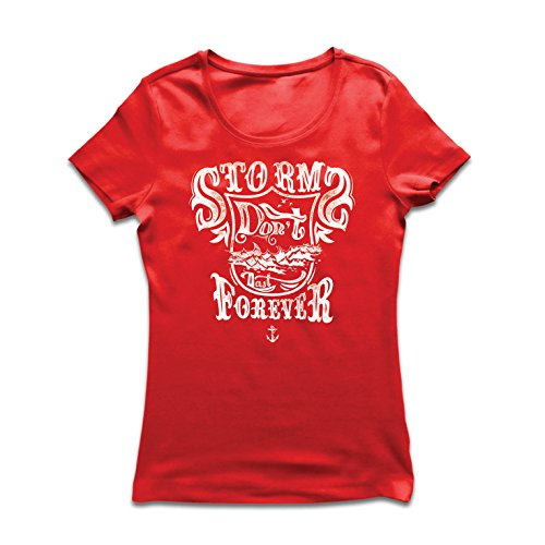 lepni.me Camiseta Mujer Tormenta no Dura para Siempre: Mejores Frases alentadoras Sobre la Vida, increíbles Refranes...