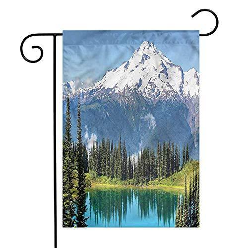 funkky Landscape Garden Flag Majestic Glacier Peak Premium Material 12