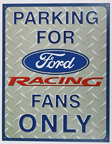 Nascar Sign Parking (MMNGT Parking for Ford Racing Fans Only Tin Sign Mustang Nascar Busch Race Garage TIN Sign 7.8X11.8 INCH)